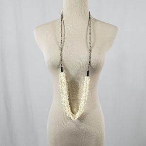 Chan Luu Polished White Stone Necklace